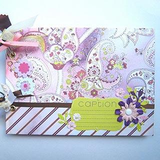 リングアルバム【紫の花】*Apricotton