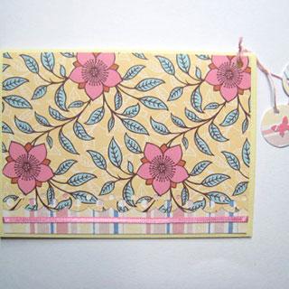 [グリーティングカード]桃色の花*Apricotton