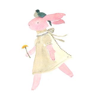 ポストカード【たんぽぽはおやつ】*Atelier Mina