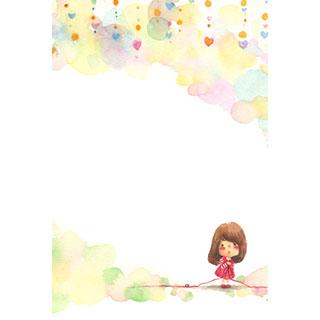 ポストカード【いとでんわ2】*紅