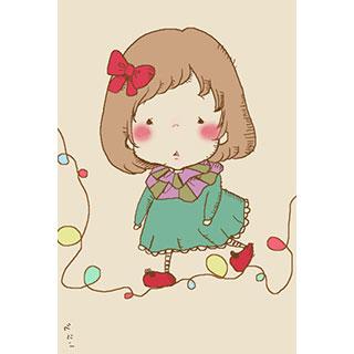 ポストカード【ぽつぽつ】*紅