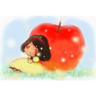 ポストカード【白雪姫】*紅