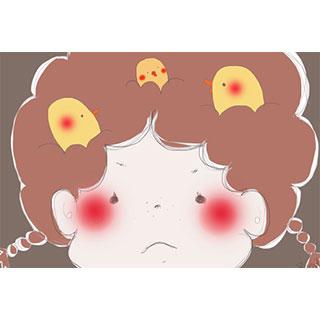 ポストカード【赤髪の子】*紅