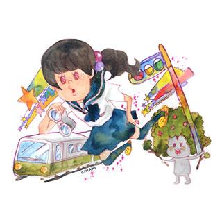 ポストカード【電車セーラー服】*chiaki*美術館