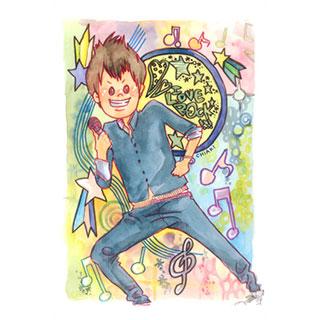 ポストカード【アイラブROCK!!】*chiaki*美術館