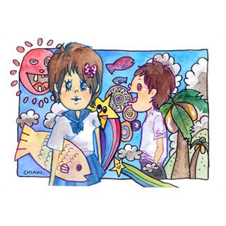 ポストカード【お魚が友達】*chiaki*美術館