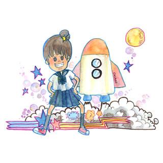 ポストカード【ロケット出発!!】*chiaki*美術館