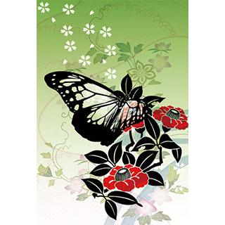 ポストカード【蝶と花】*D4STUDIO