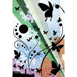 ポストカード【踊る蝶の群れ】*D4STUDIO