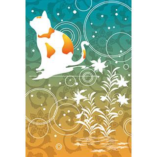 ポストカード【和風なネコ】*D4STUDIO