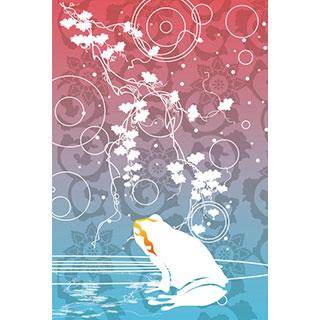 ポストカード【和風なカエル】*D4STUDIO