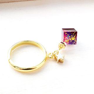 キューブリング・紫×桃 * DayBreak