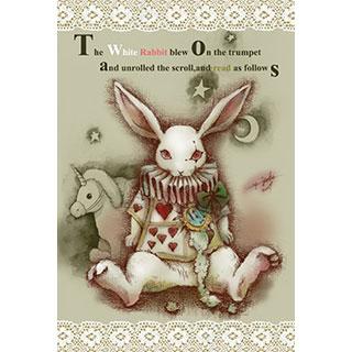 ポストカード【White Rabbit】*みさぎ陽子