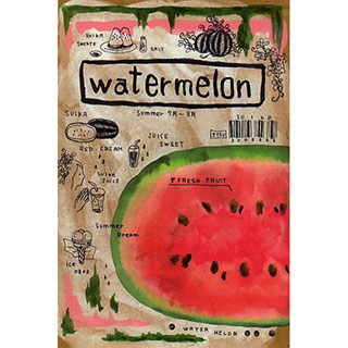 ポストカード【water melon (すいか)】*ETSU