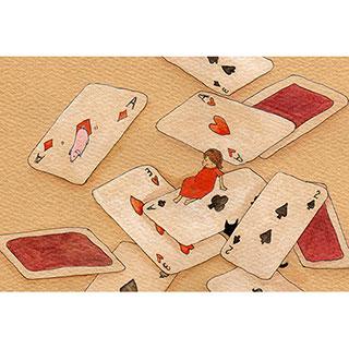 ポストカード【とらんぷ】* ETSU