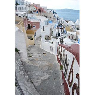 ポストカード【ギリシャ サントリーニ島】*FIONA