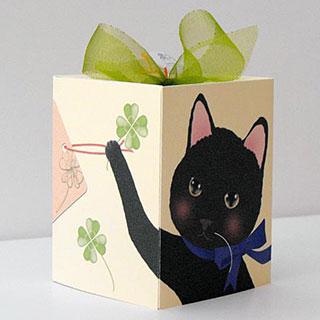 ギフトボックスカード【クローバー】* Haginko