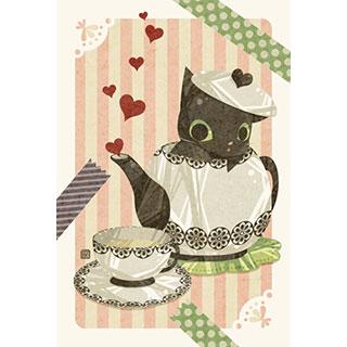 ポストカード【猫茶】* ひよま