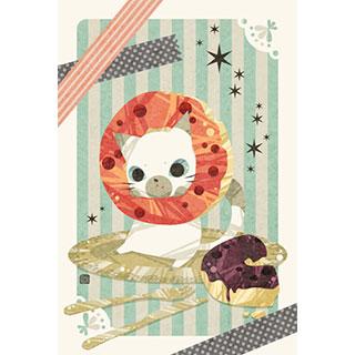 ポストカード【猫ドーナツ】* ひよま