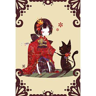 ポストカード【ネコ】* ひよま