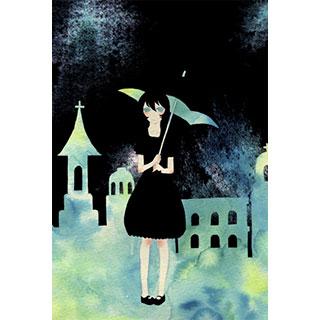 ポストカード【夜の日傘】*ほしくず。