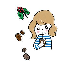 ポストカード【おやつタイム…コーヒー】* いちの うたは