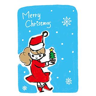ポストカード【メリークリスマス!】* いちの うたは
