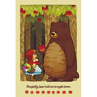 ポストカード【赤ずきんとクマ】* Kaz:Chiko