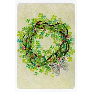 ポストカード【Lease of hydrangea (アジサイのリース)】*きむらともこ