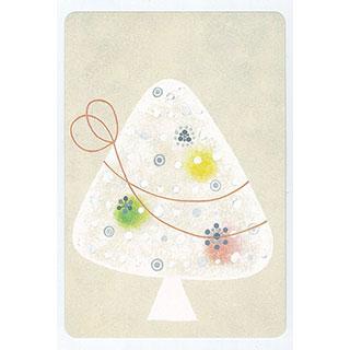ポストカード【ribbon and tree (リボンと木)】*きむらともこ