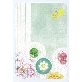 ポストカード【Flower & Butterfly】*きむらともこ