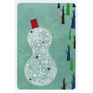 ポストカード【Snowman (雪だるま)】*きむらともこ