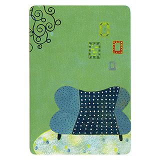 ポストカード【Green room (緑色の部屋)】*きむらともこ