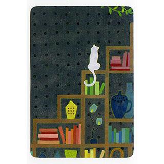 ポストカード【Gray room (ネズミ色の部屋)】*きむらともこ
