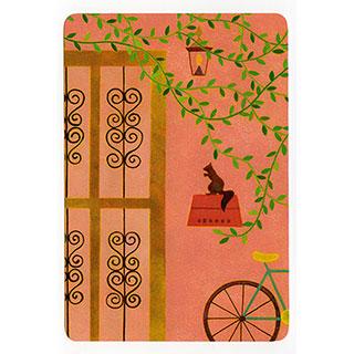 ポストカード【Orange room (オレンジ色の部屋)】*きむらともこ