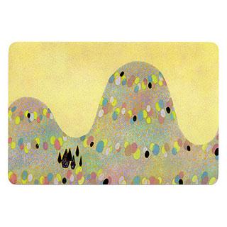 ポストカード【yellow mounttain (黄色い山)】*きむらともこ