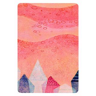 ポストカード【red mountain (赤い山)】*きむらともこ