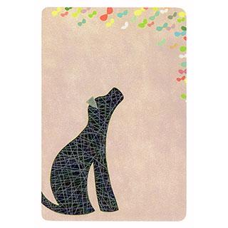 ポストカード【black dog (黒い犬)】*きむらともこ