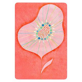 ポストカード【One flower (一輪の花)】*きむらともこ