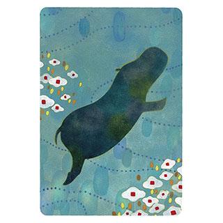 ポストカード【Hippopotamus (カバ)】*きむらともこ