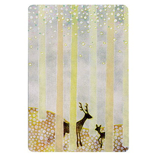 ポストカード【Deer (鹿)】*きむらともこ