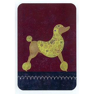 ポストカード【Poodle】*きむらともこ