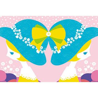 ポストカード【双子の女の子】*中谷こまき