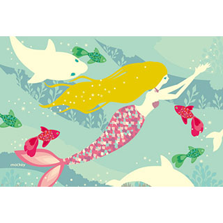 ポストカード【海を泳ぐ人魚姫】*中谷こまき