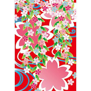 ポストカード【しだれ桜】*くま舎