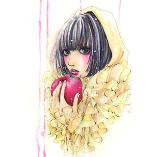 ポストカード【白雪姫】*ラテLatte