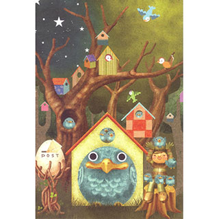 ポストカード【青い鳥団地】*LIBE