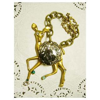 キラキラ小鹿のバッグチャーム*Luna Antique*