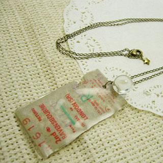 切符のシンプルロングネックレス*Luna Antique*