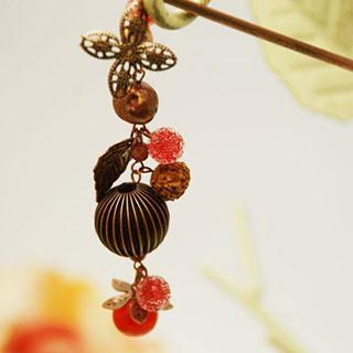 木の実とフルーツのかんざし*Luna Antique*